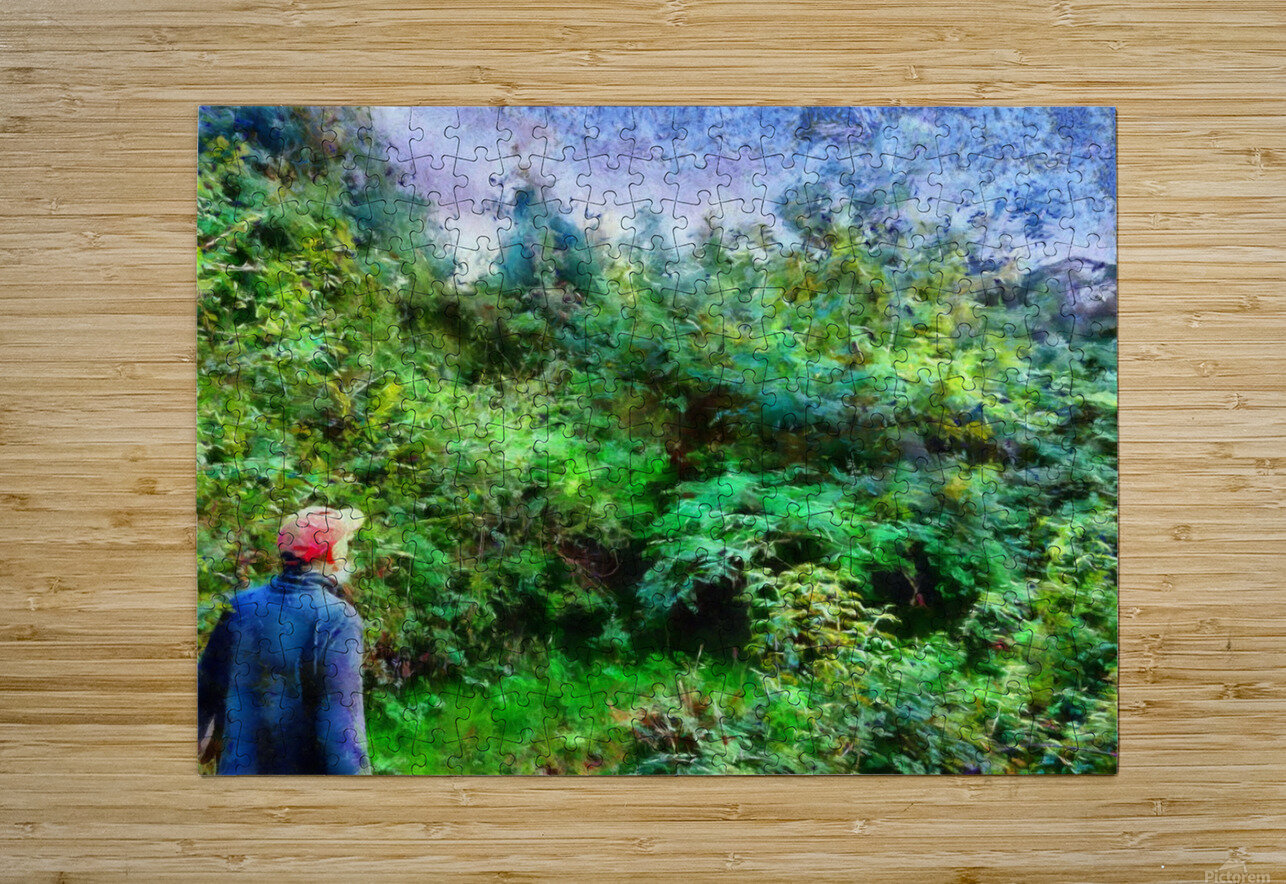 A Walk In The Countryside  HD Metal print with Floating Frame on Back