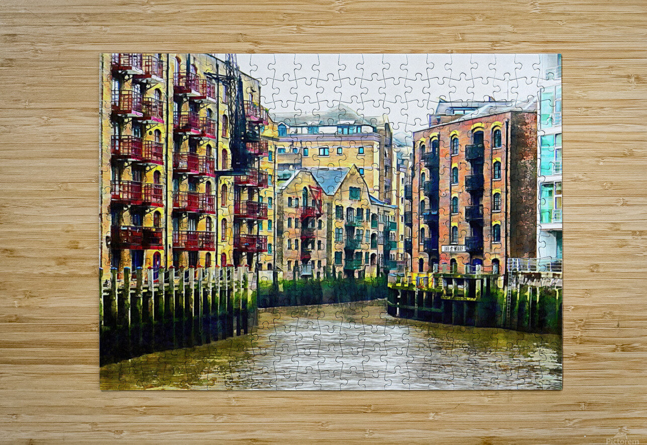 St Saviours Dock London  HD Metal print with Floating Frame on Back