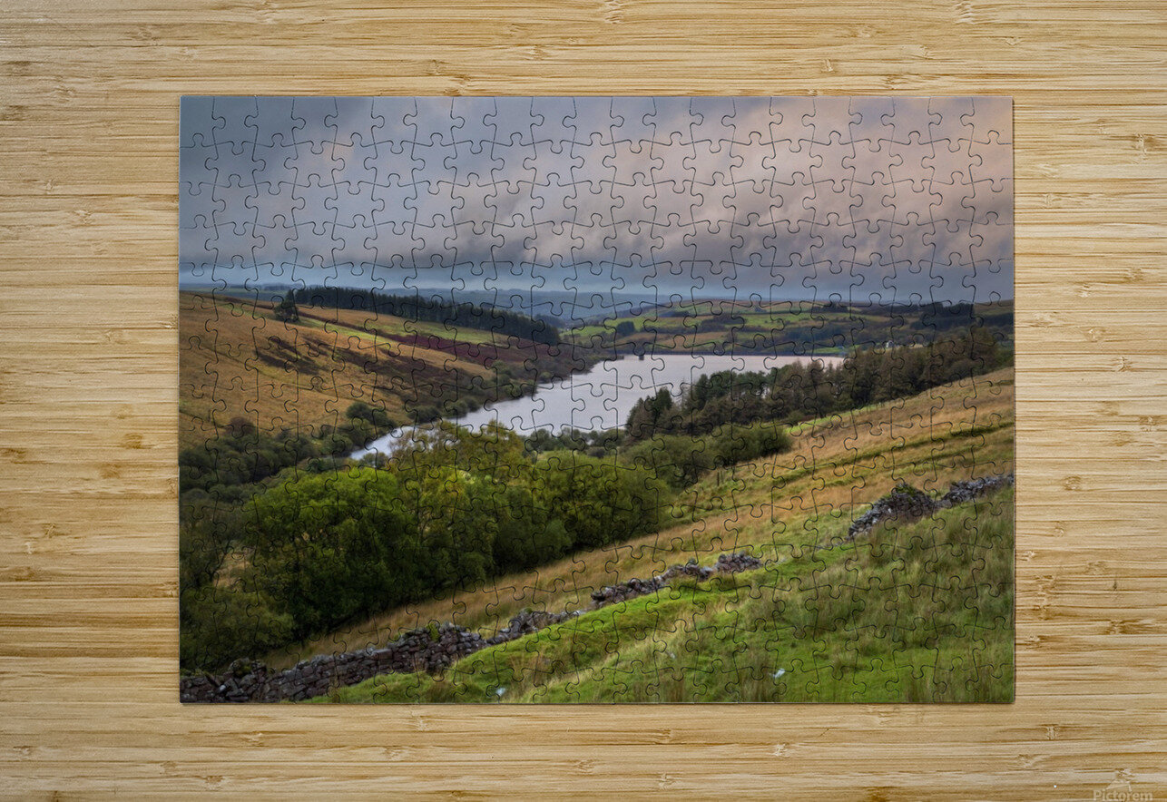 The Cray Reservoir in the Brecon Beacons National Park  HD Metal print with Floating Frame on Back