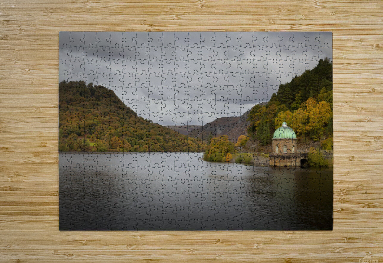The Carreg Ddu reservoir  HD Metal print with Floating Frame on Back