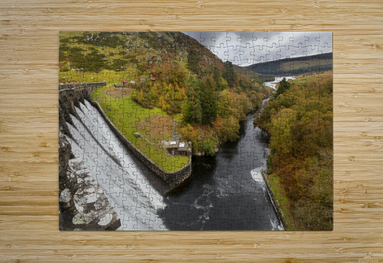 Craig Goch dam  HD Metal print with Floating Frame on Back