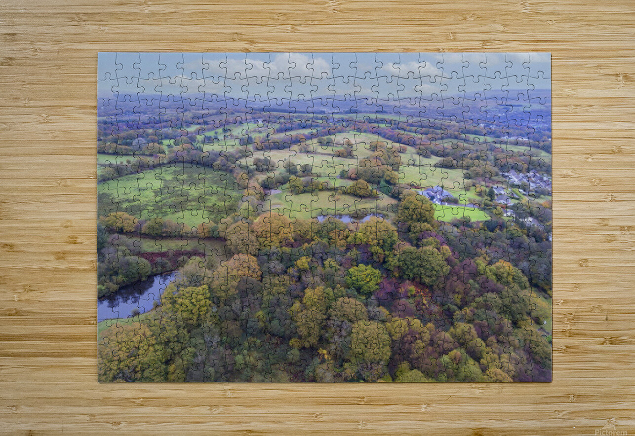 Autumn in Cwm-twrch Isaf  HD Metal print with Floating Frame on Back