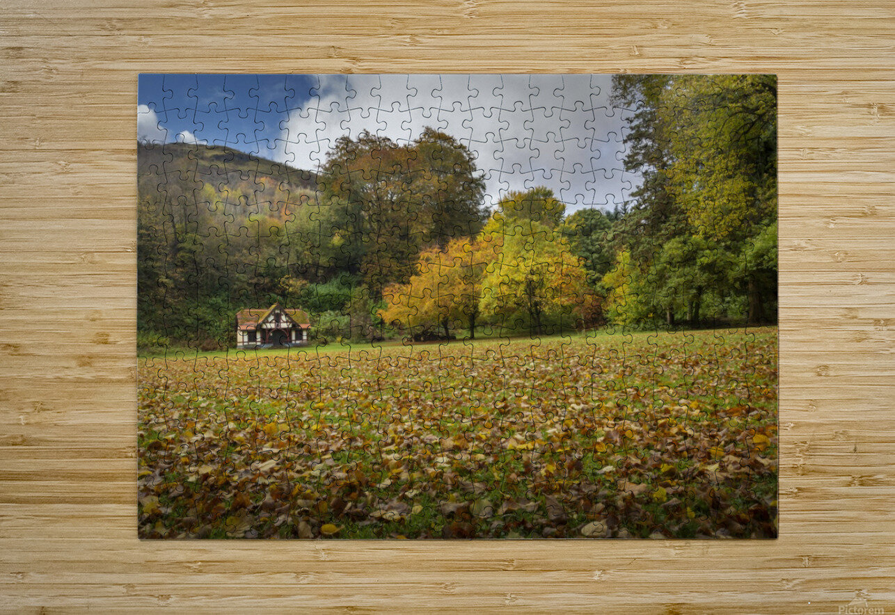 Autumn at Craig-y-Nos Country park   HD Metal print with Floating Frame on Back