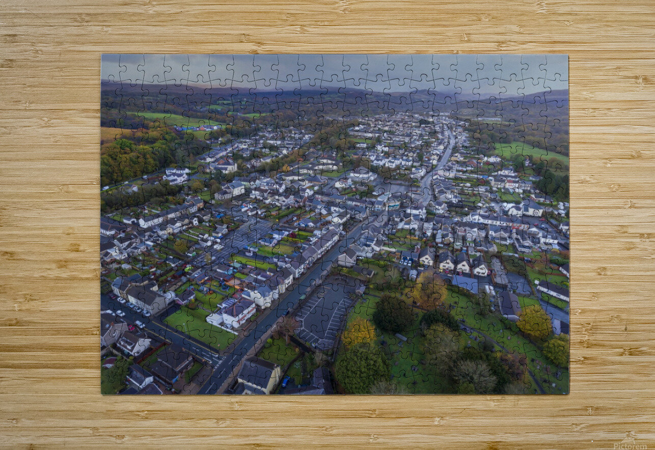 Rainclouds over Ystradgynlais  HD Metal print with Floating Frame on Back