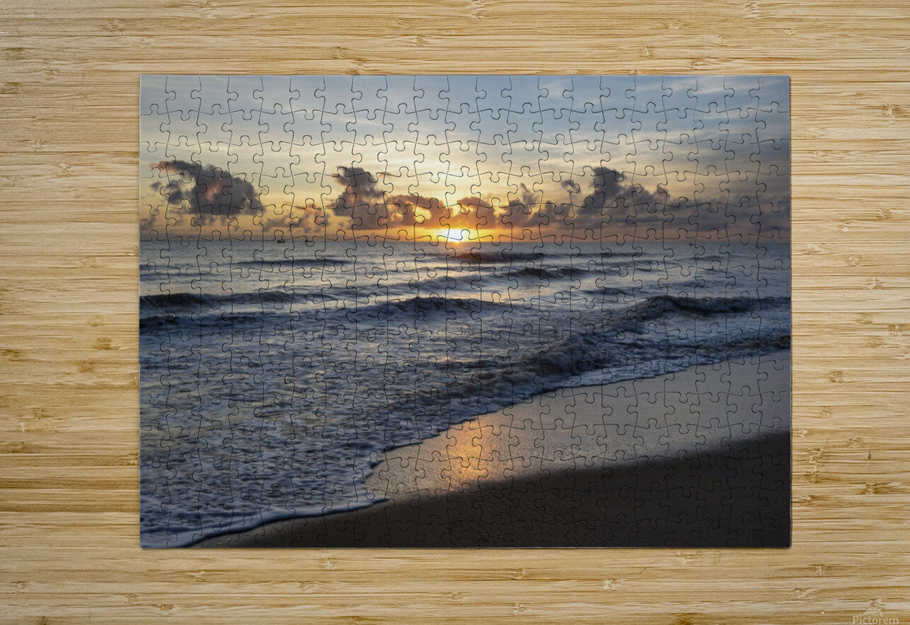 Sunrise Golden  HD Metal print with Floating Frame on Back