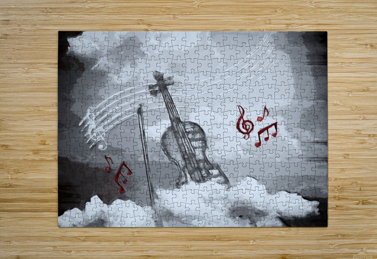 heavenly music  HD Metal print with Floating Frame on Back
