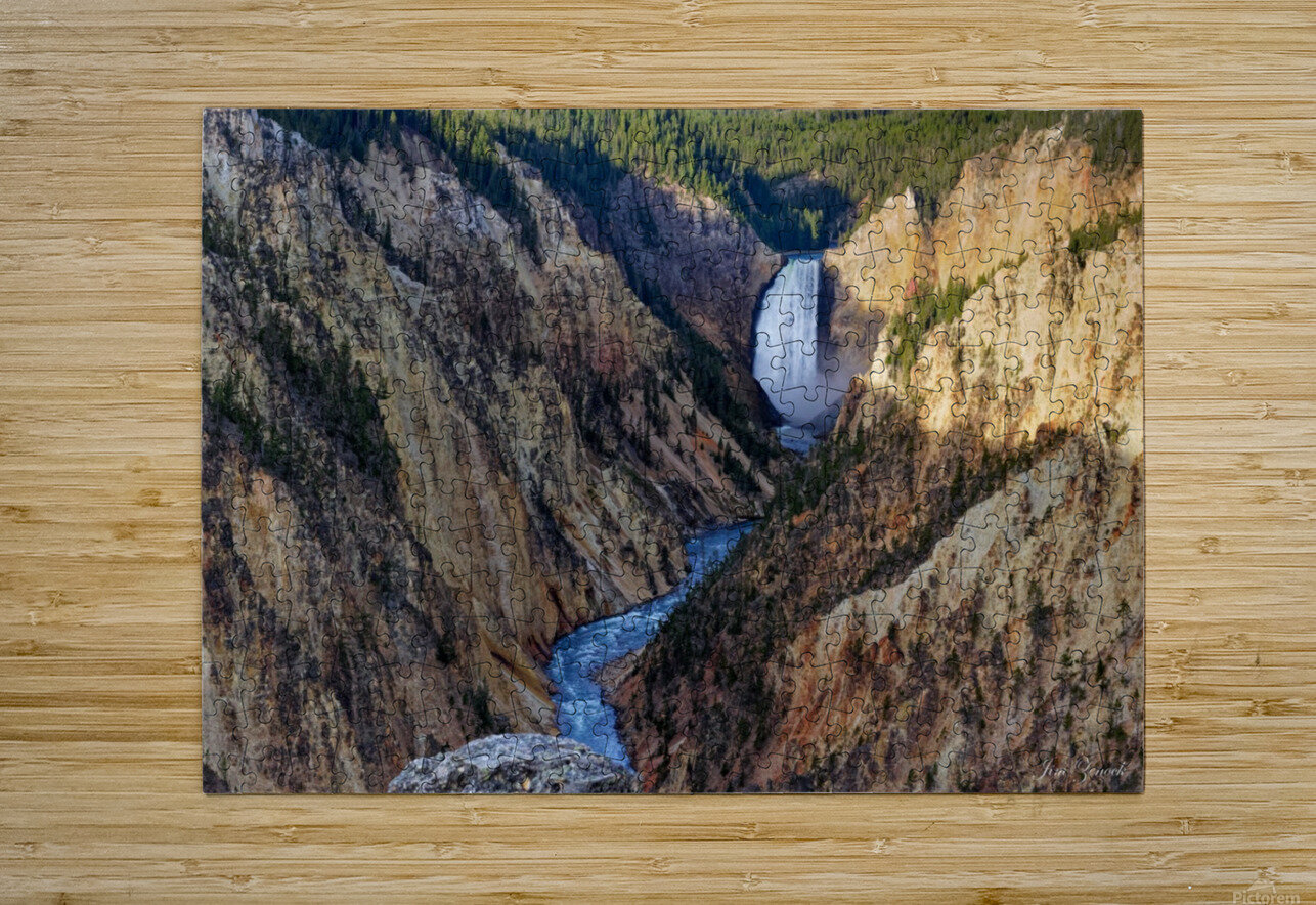 Yellowstone National Park Lower Falls  HD Metal print with Floating Frame on Back