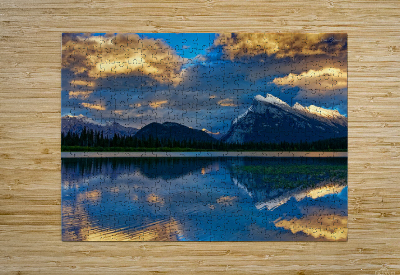 Canadian Rockies  HD Metal print with Floating Frame on Back