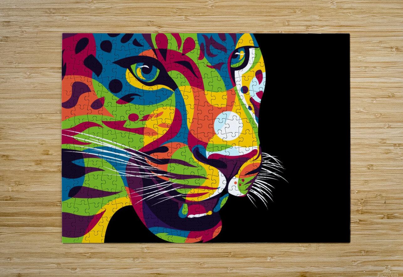 The Jaguar Gaze  HD Metal print with Floating Frame on Back