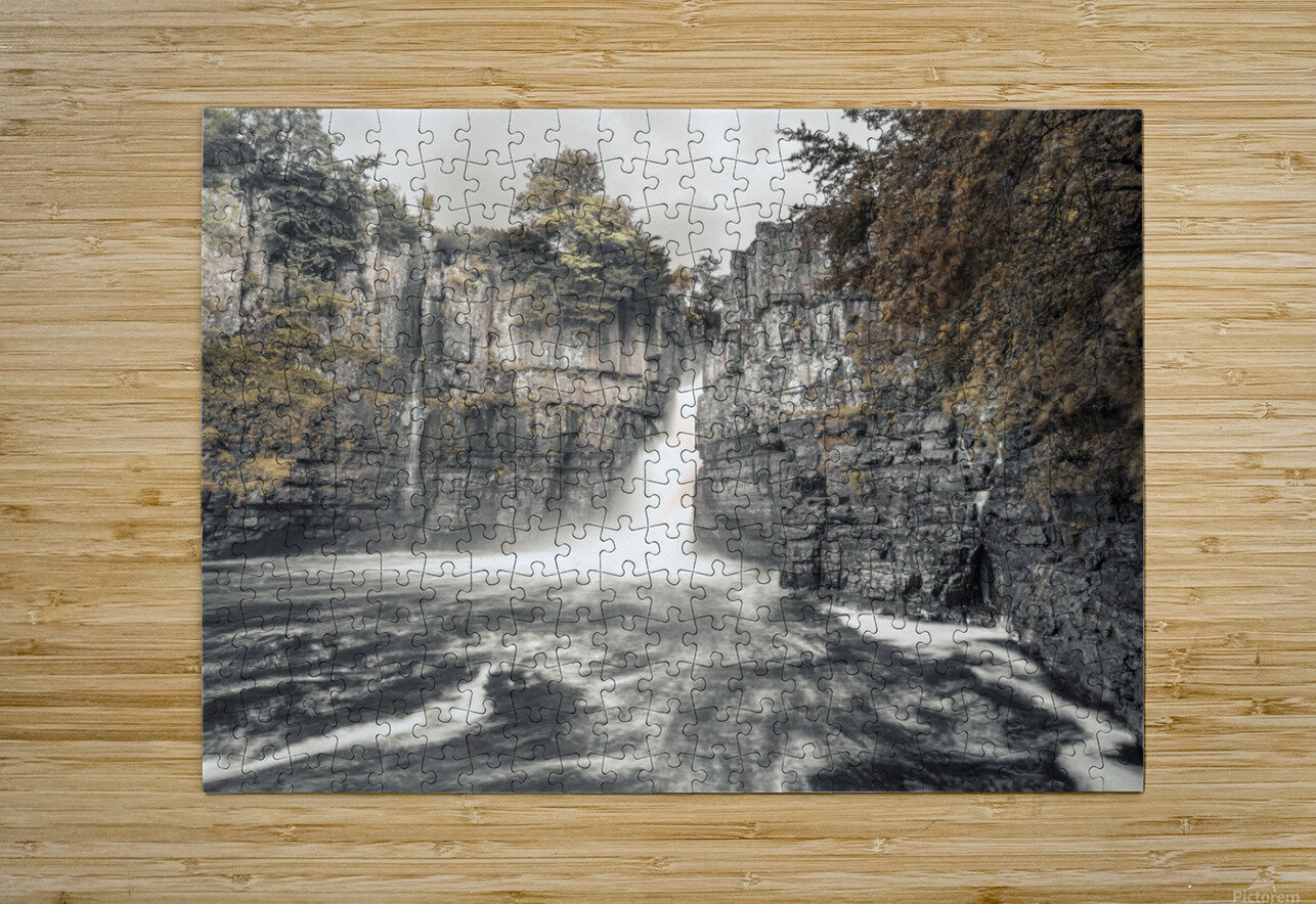 High Force waterfall, North Pennines, Yorkshire, UK  HD Metal print with Floating Frame on Back
