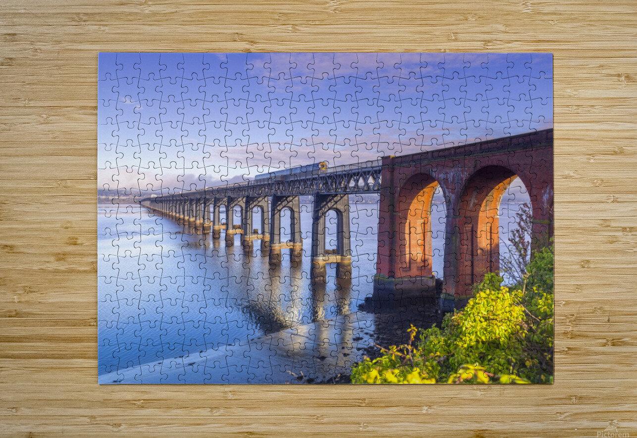 Tay Rail Bridge, Dundee, Scotland  HD Metal print with Floating Frame on Back
