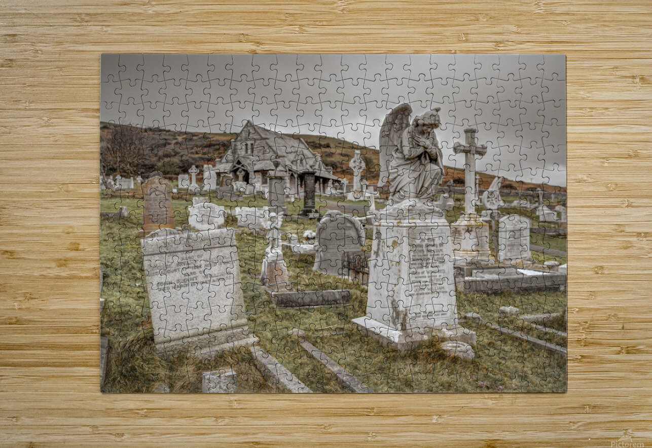 Cemetery in Llandudno, North Wales  HD Metal print with Floating Frame on Back