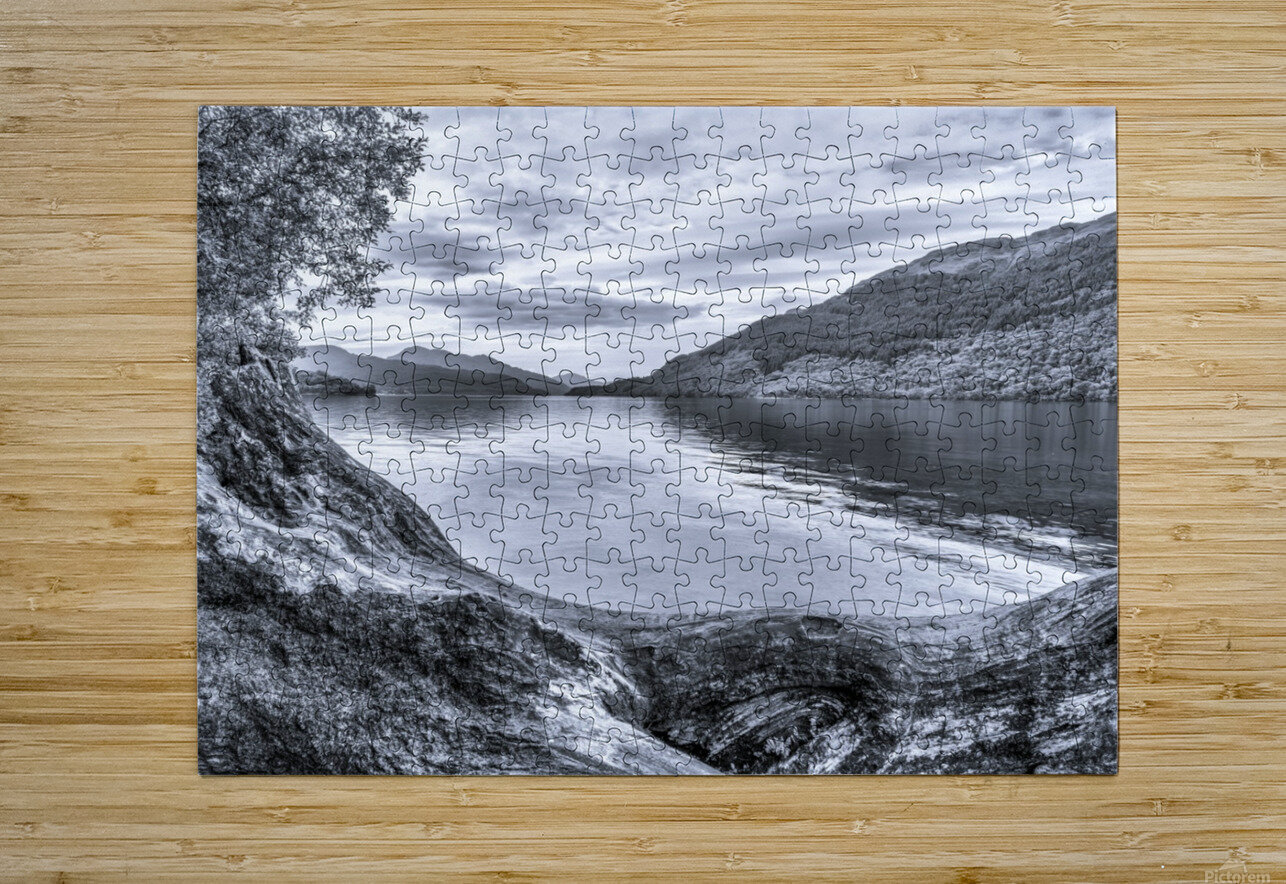 Scottish Loch  HD Metal print with Floating Frame on Back