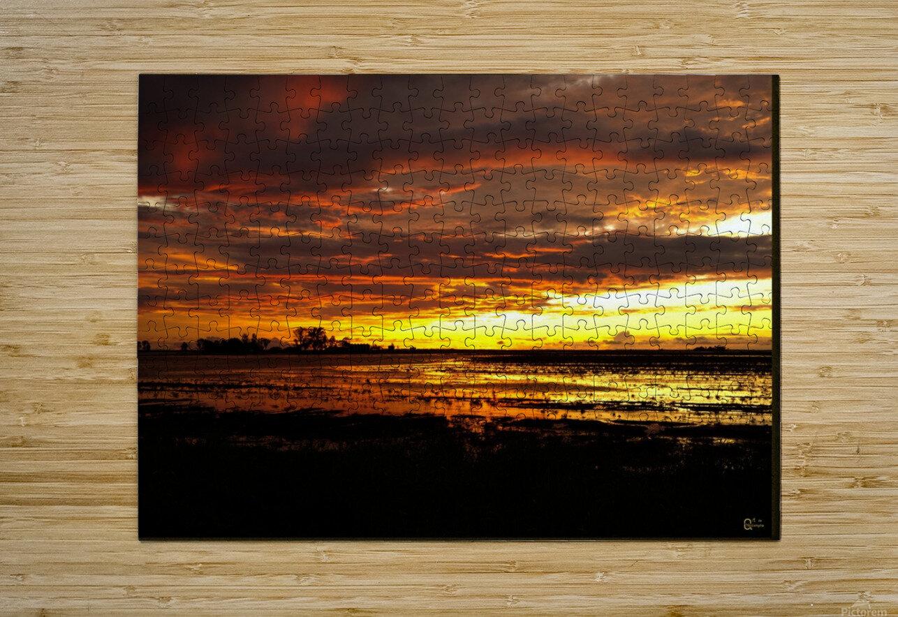 granite belt sunset  HD Metal print with Floating Frame on Back