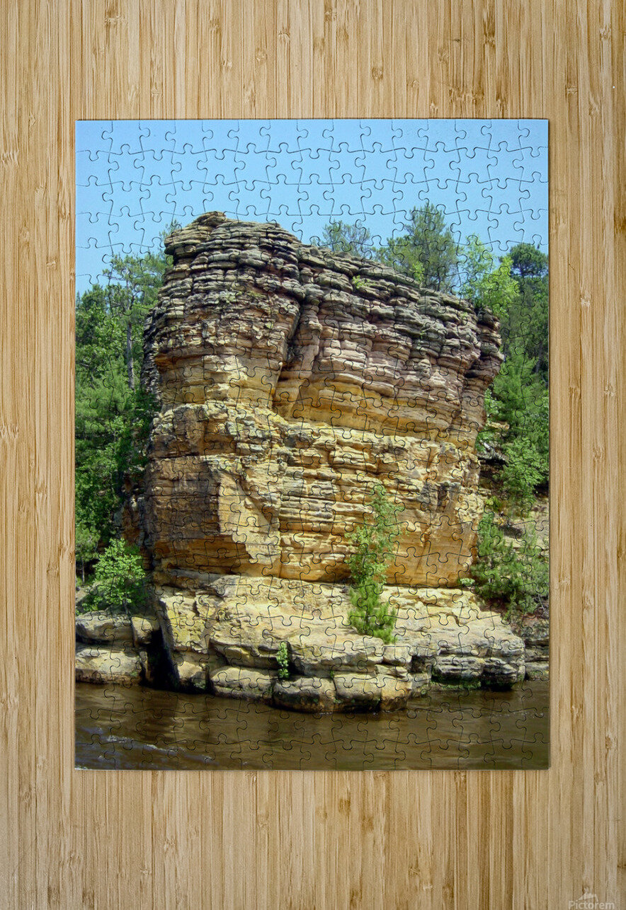 Rugged Wisconsin 4  HD Metal print with Floating Frame on Back