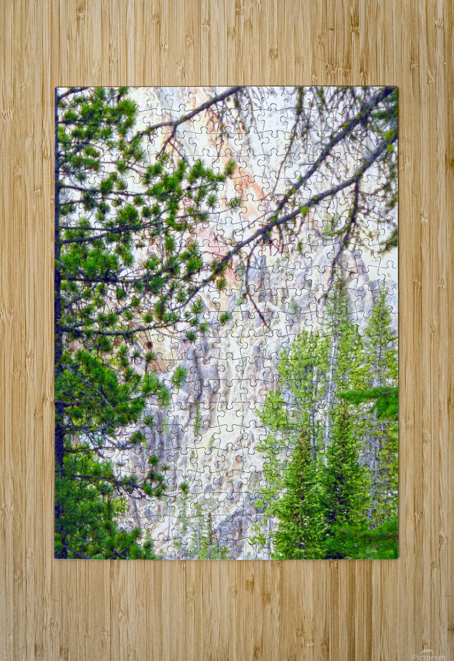 Mighty Yellowstone 4 - Grand Canyon of the Yellowstone River - Yellowstone National Park  HD Metal print with Floating Frame on Back