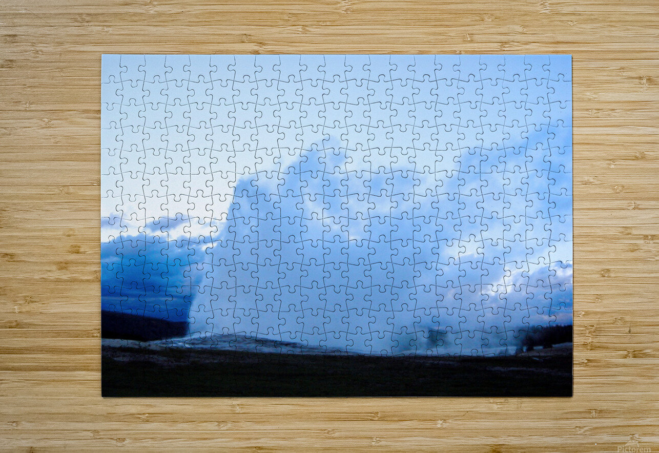 Old Faithful   Yellowstone  HD Metal print with Floating Frame on Back