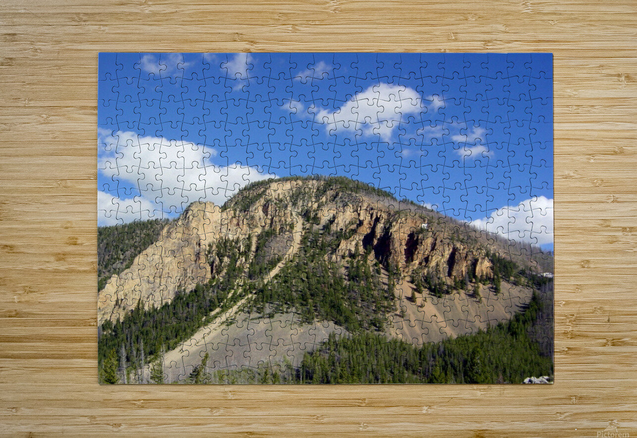 Yellowstone National Park 2  HD Metal print with Floating Frame on Back