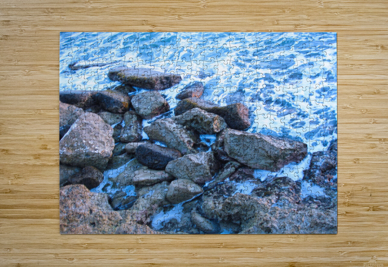 Rugged Coast  HD Metal print with Floating Frame on Back