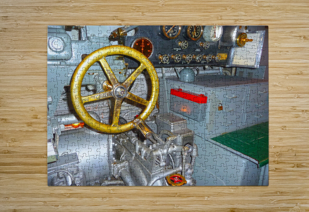 Submarine 2  HD Metal print with Floating Frame on Back