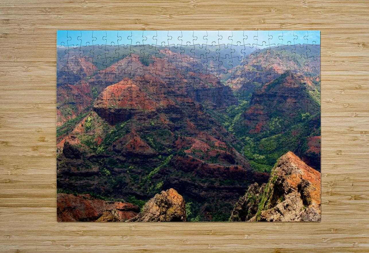 Rugged Kauai  HD Metal print with Floating Frame on Back