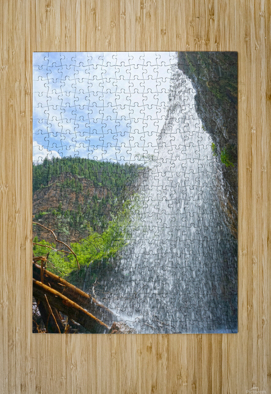 Inside the Waterfall  HD Metal print with Floating Frame on Back