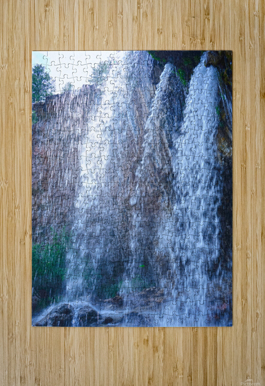Standing in the Waterfalls  HD Metal print with Floating Frame on Back