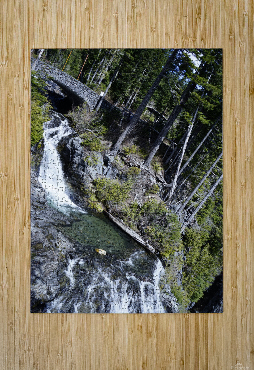 From Bridge to Stream  HD Metal print with Floating Frame on Back