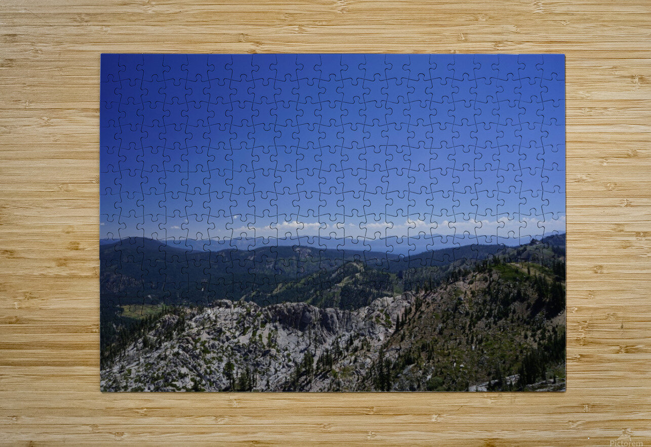 View from the Top Lake Tahoe California  HD Metal print with Floating Frame on Back