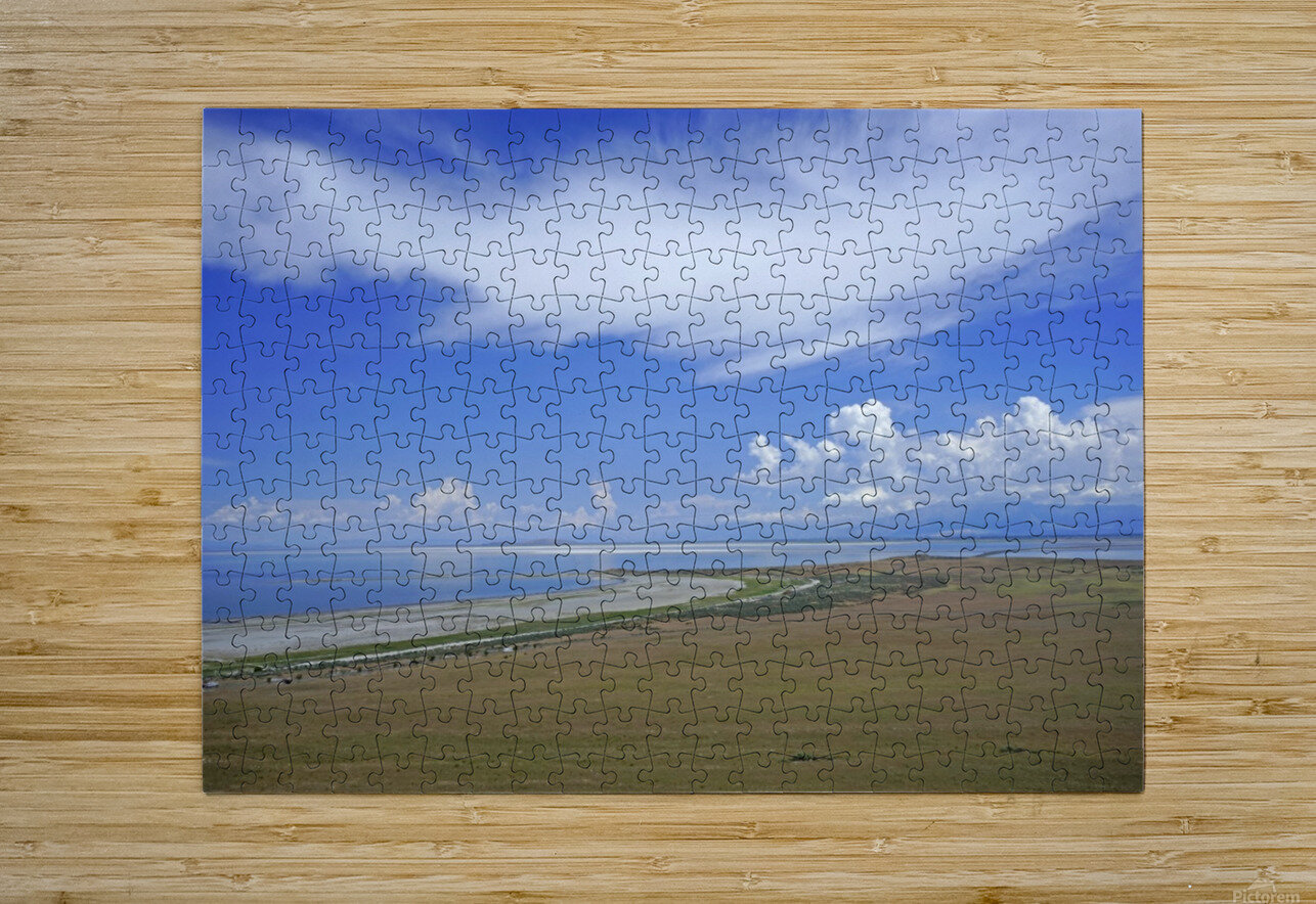 The Great Salt Lake 7 of 7  HD Metal print with Floating Frame on Back