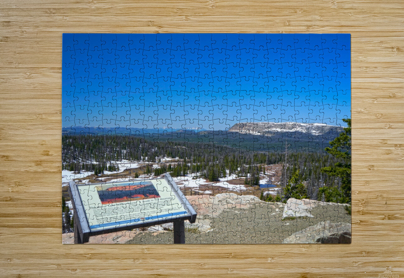 On The Road to Mirror Lake 2 of 5  HD Metal print with Floating Frame on Back