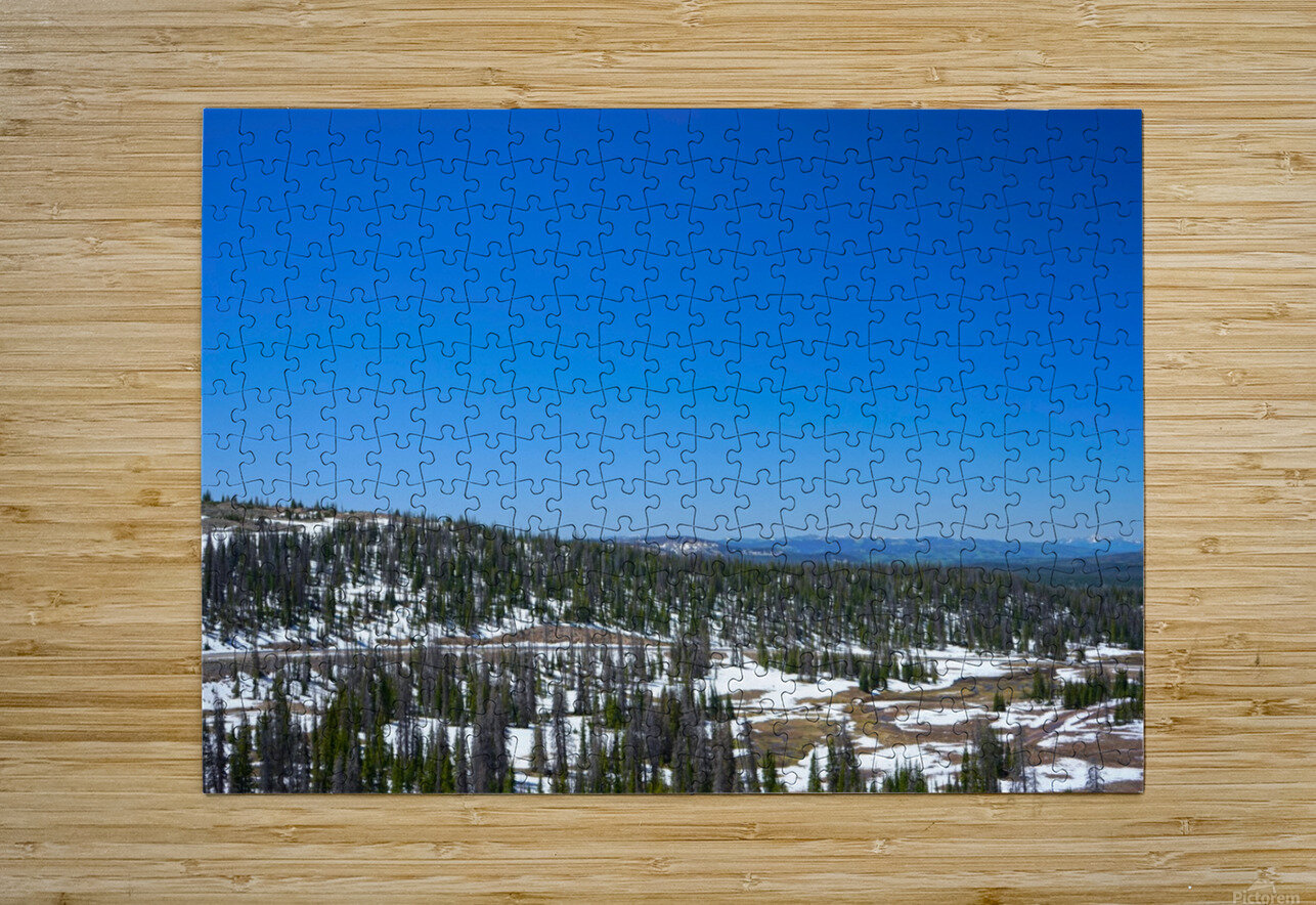 On The Road to Mirror Lake 3 of 5  HD Metal print with Floating Frame on Back