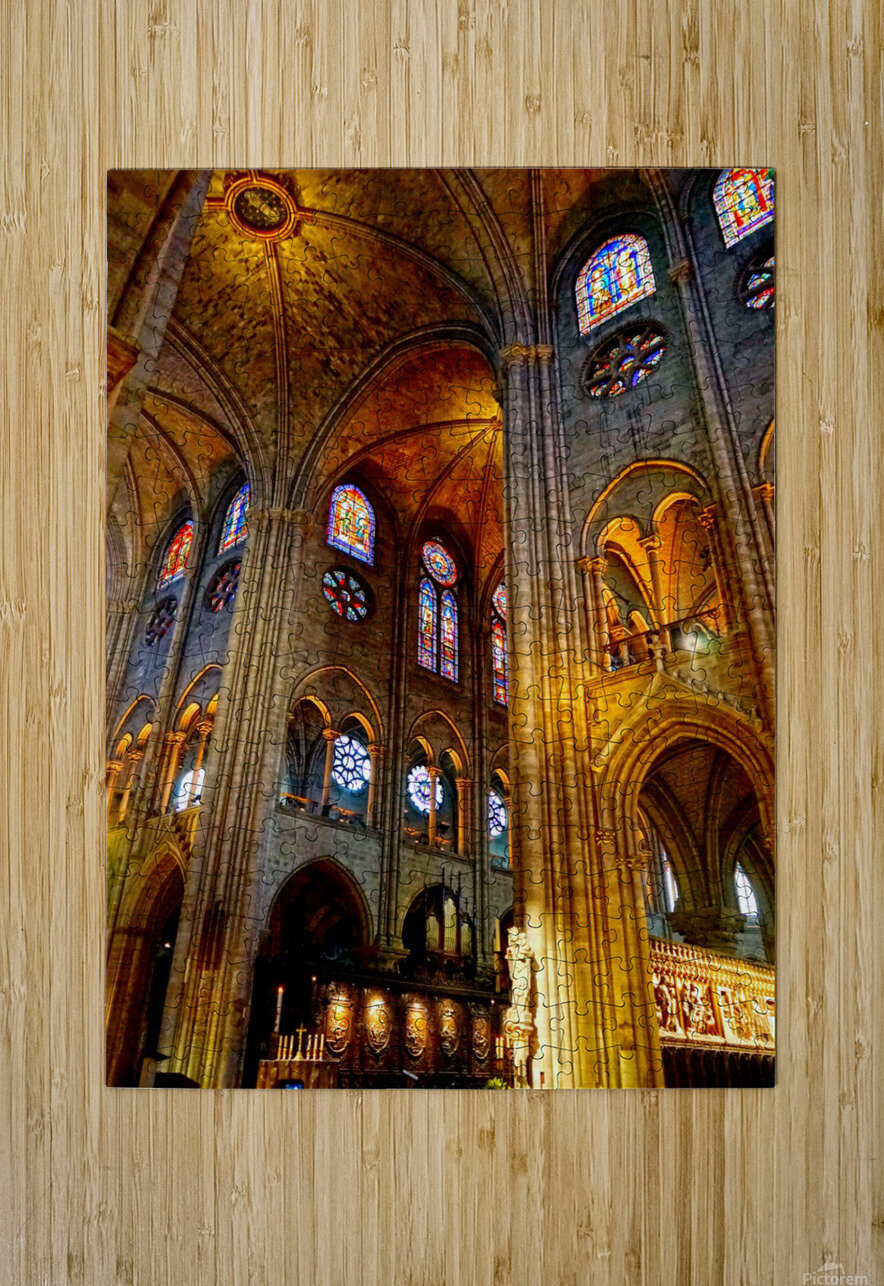 Jeanne d Arc and Saint Croix Cathedral at Orleans   France 3 of 7  HD Metal print with Floating Frame on Back