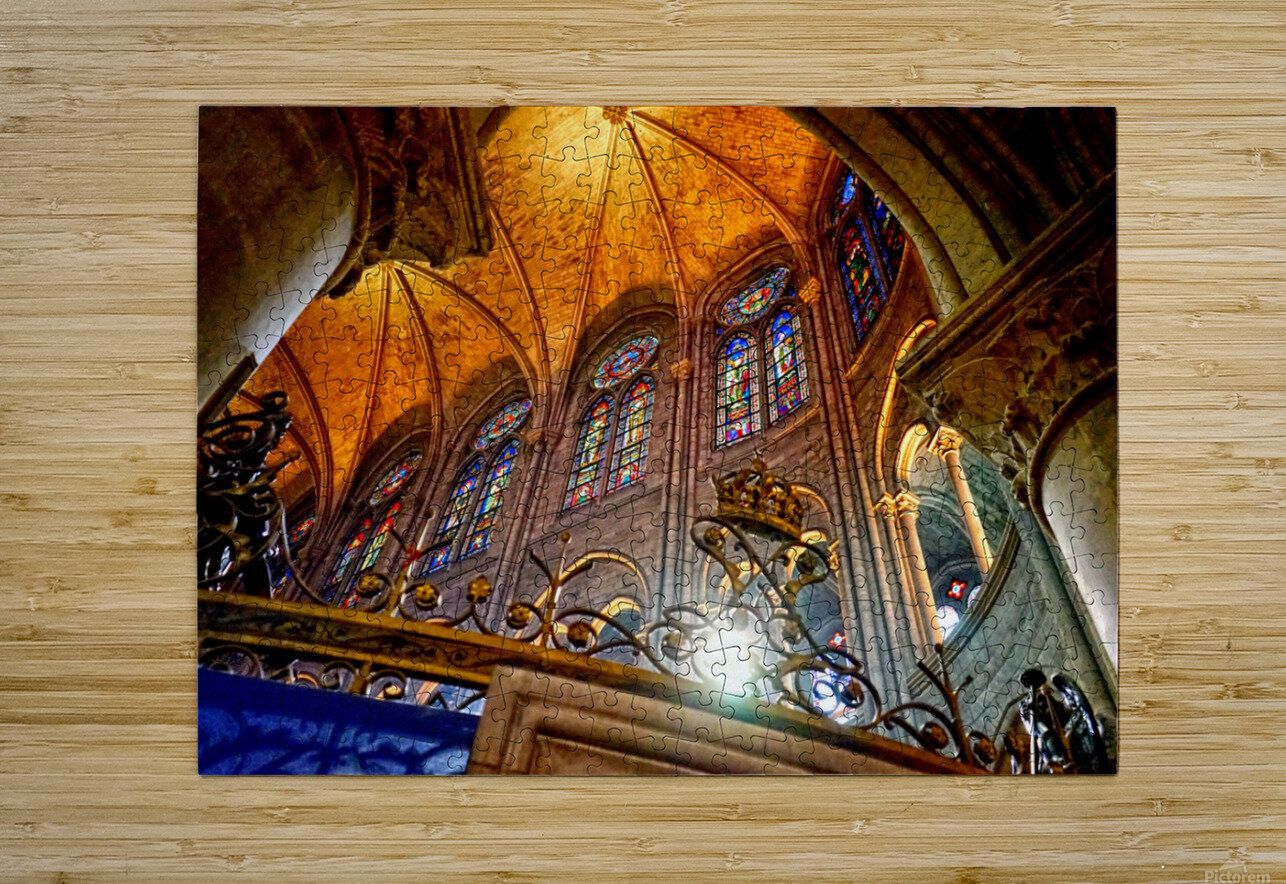 Jeanne d Arc and Saint Croix Cathedral at Orleans   France 7 of 7  HD Metal print with Floating Frame on Back