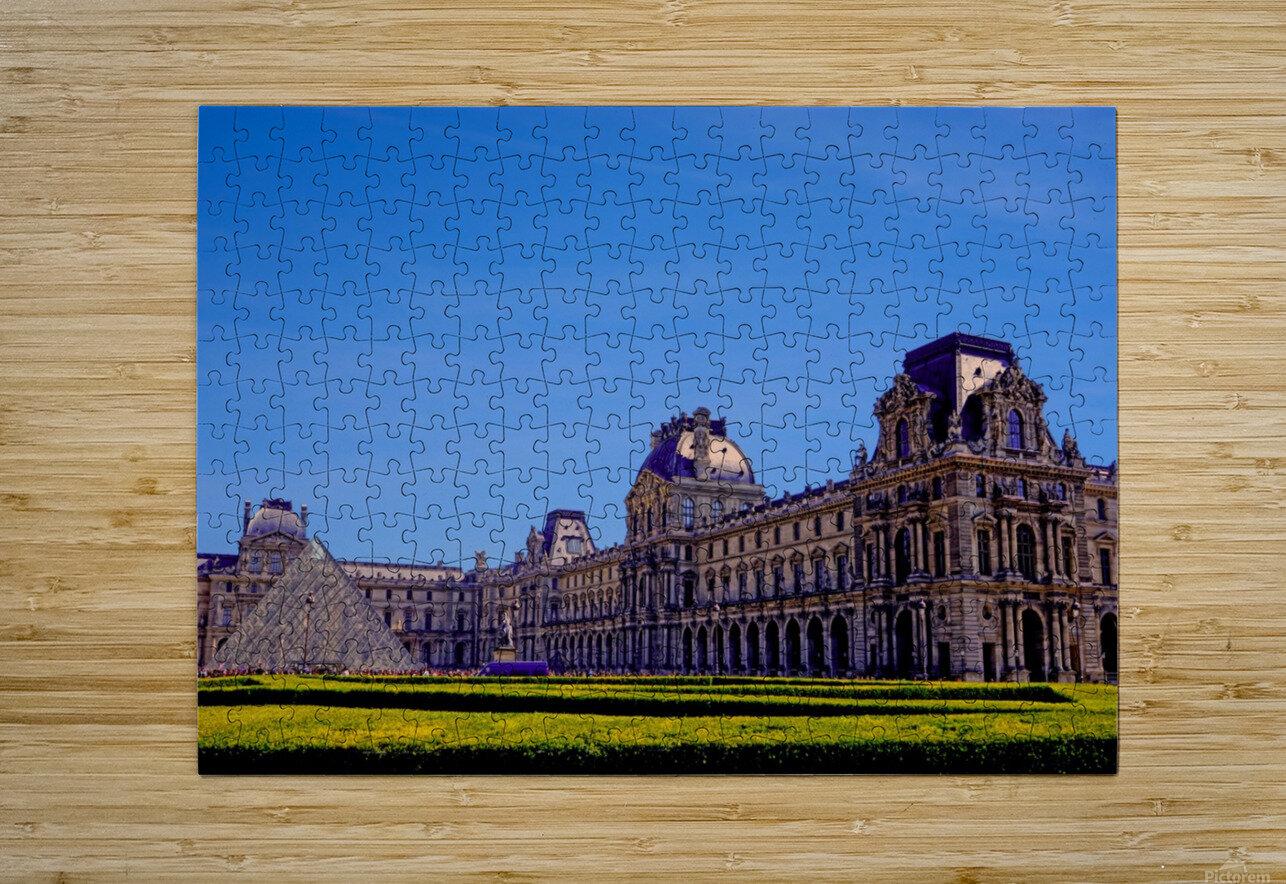 The Louvre Paris 1st Arrondissement Paris  HD Metal print with Floating Frame on Back