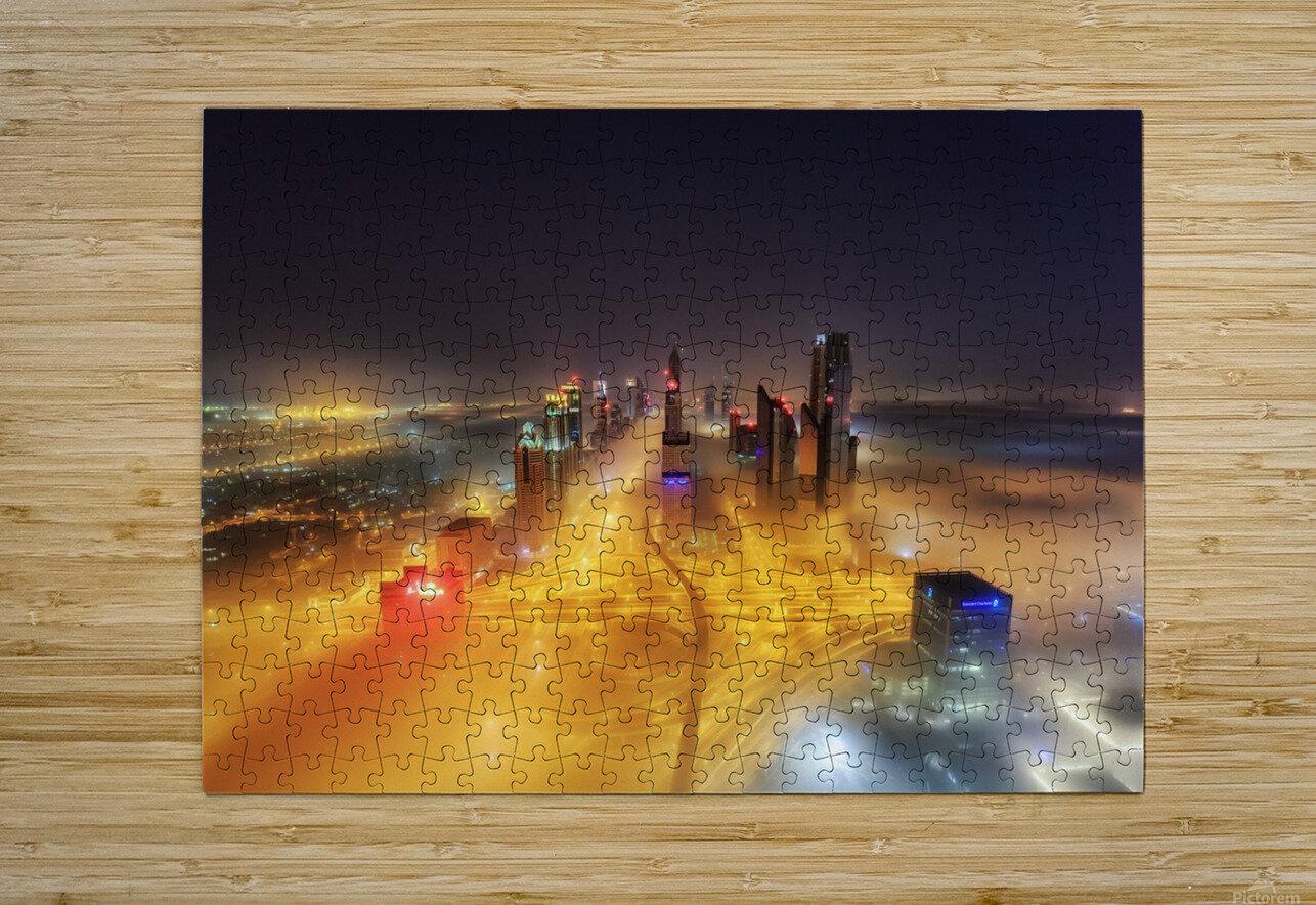 Fog Invasion  HD Metal print with Floating Frame on Back