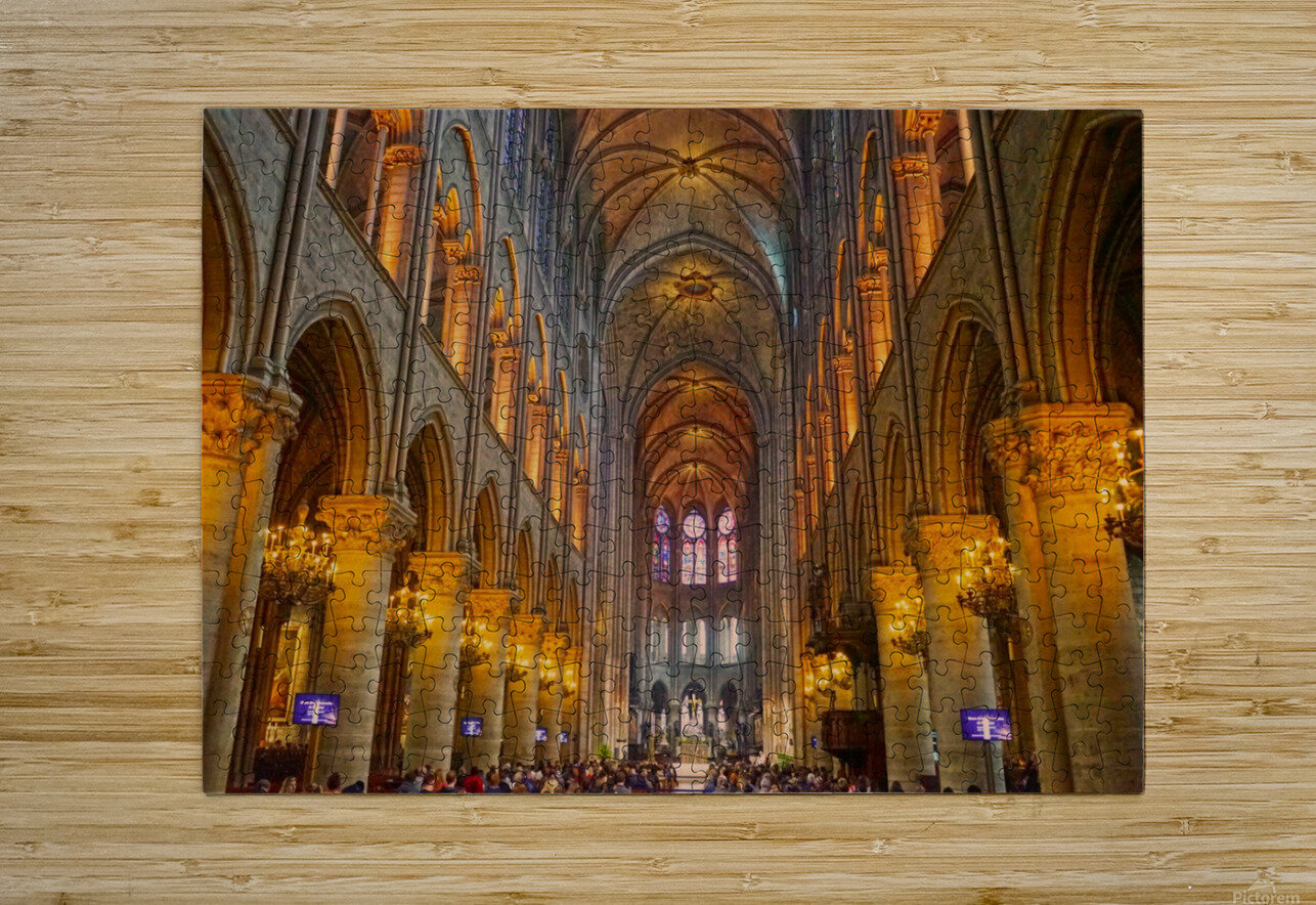 Saint Croix Cathedral France  HD Metal print with Floating Frame on Back