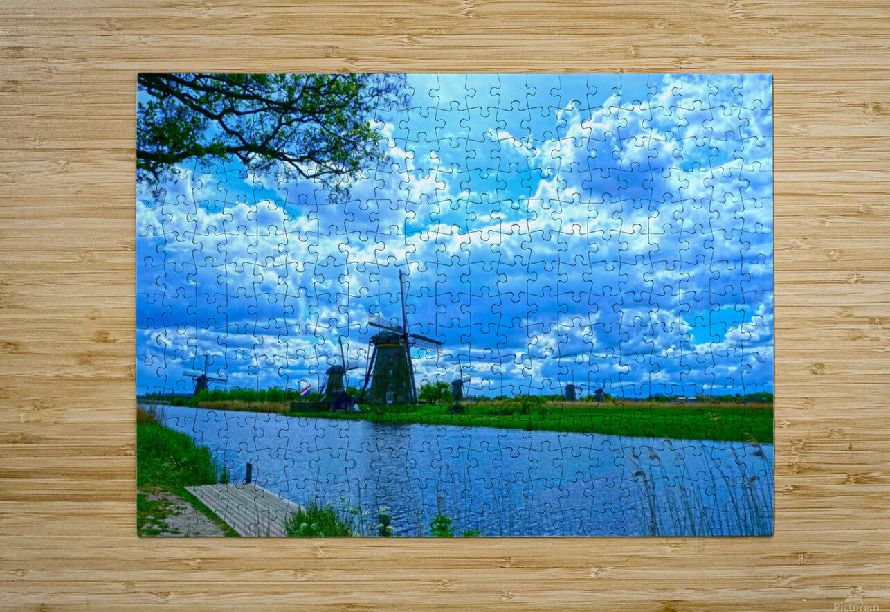 Windmills of the Netherlands 2 of 4  HD Metal print with Floating Frame on Back
