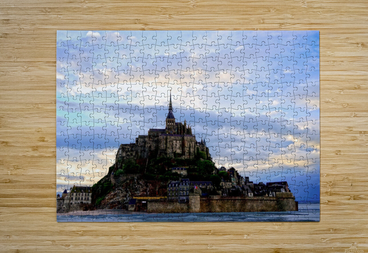 Mont St Michael Rising Tide - France  HD Metal print with Floating Frame on Back
