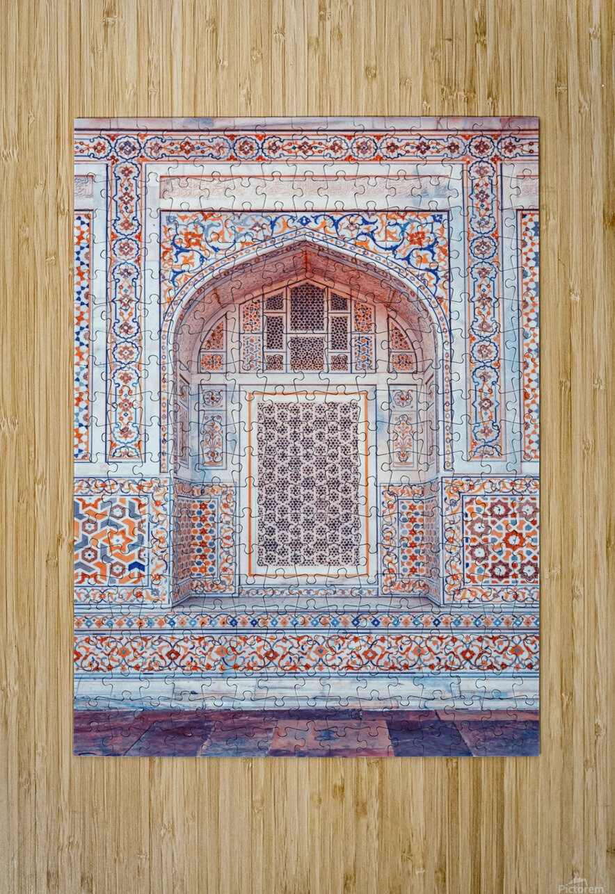 Rajasthan Architecture  HD Metal print with Floating Frame on Back