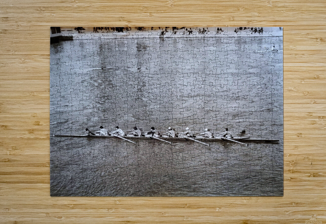 Paris Rowing 1975   2  HD Metal print with Floating Frame on Back