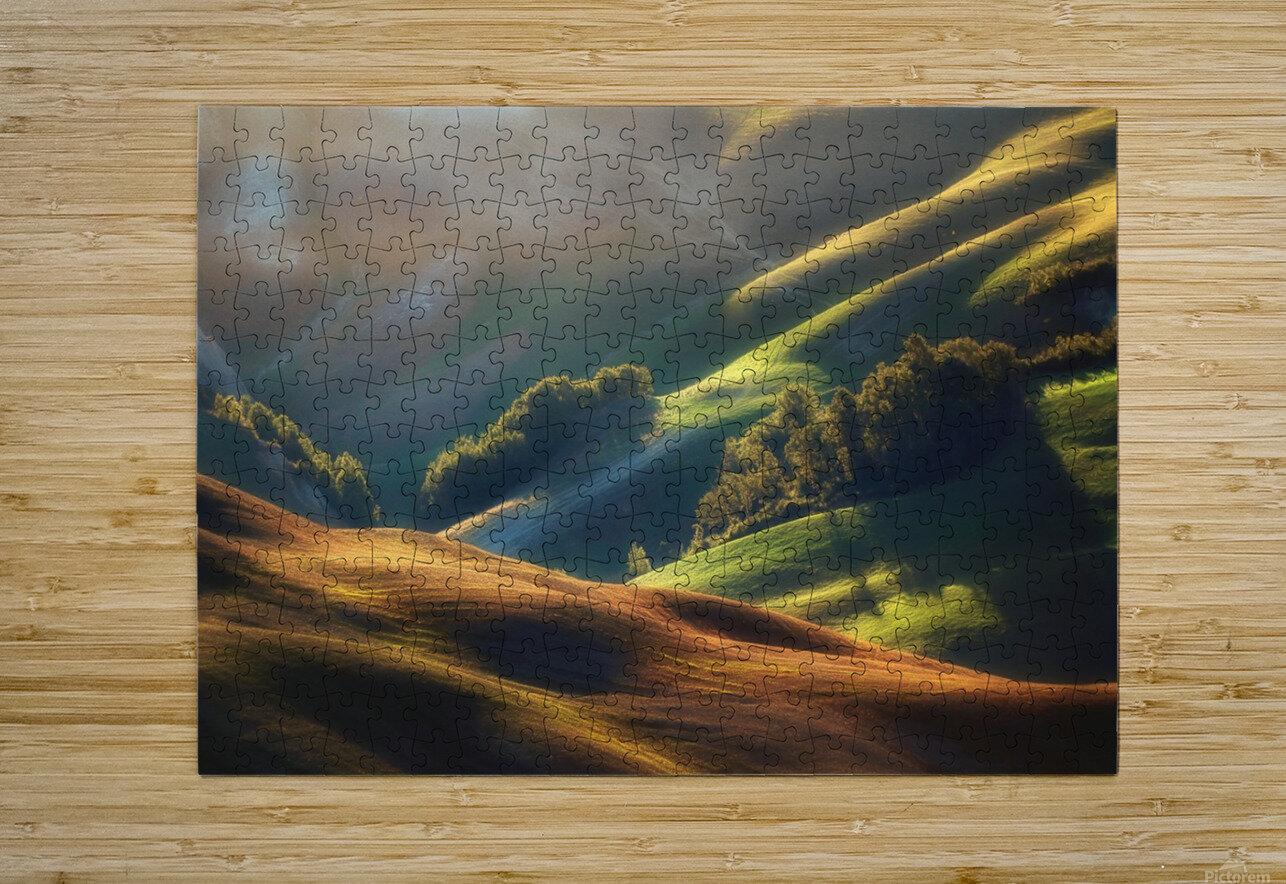 Tuscany Sunrise  HD Metal print with Floating Frame on Back