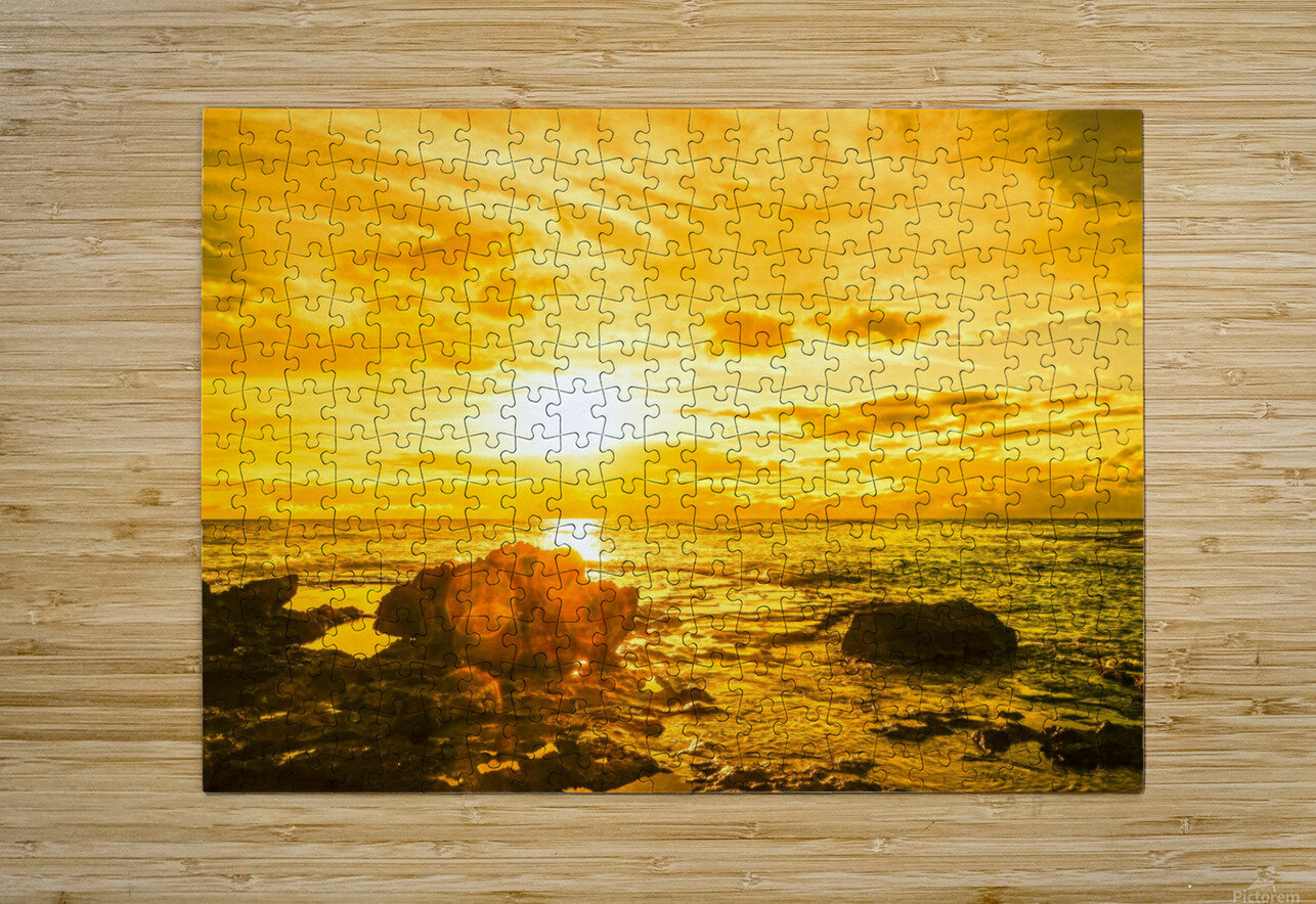 Majestic Sunset - Hawaiian Islands  HD Metal print with Floating Frame on Back