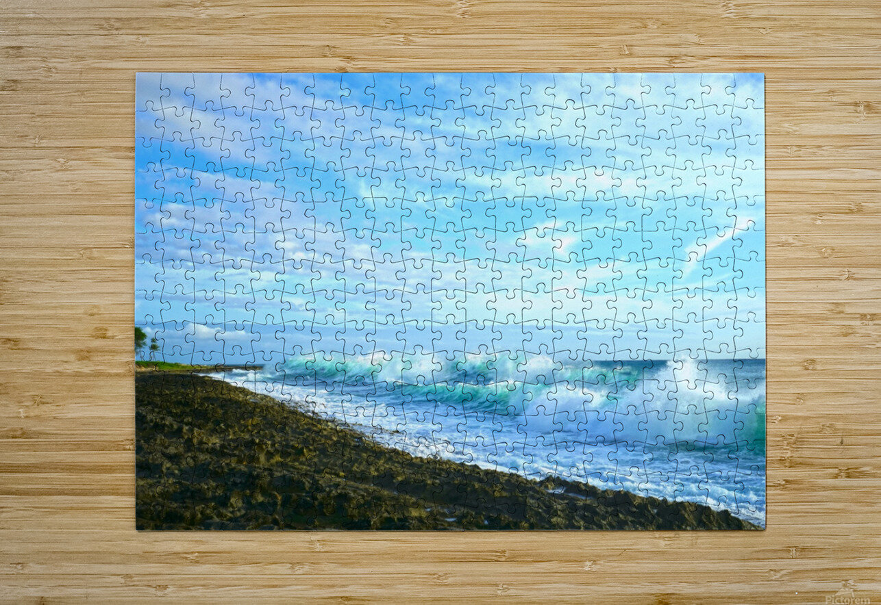 Blue Day - Hawaiian Islands  HD Metal print with Floating Frame on Back