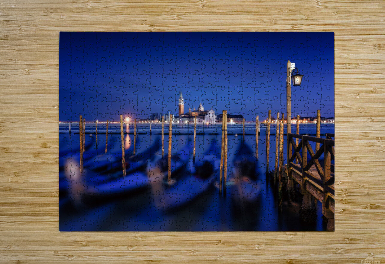 San Giorgio Maggiore Island, Venice by Photography by Karen  HD Metal print with Floating Frame on Back