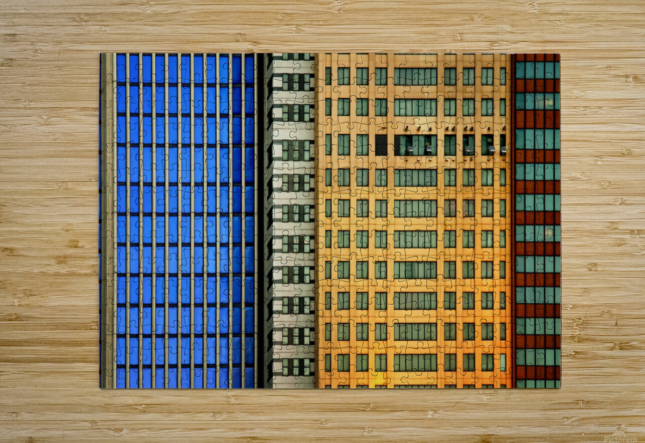 Windows on the City by So Sad Mathilde  HD Metal print with Floating Frame on Back