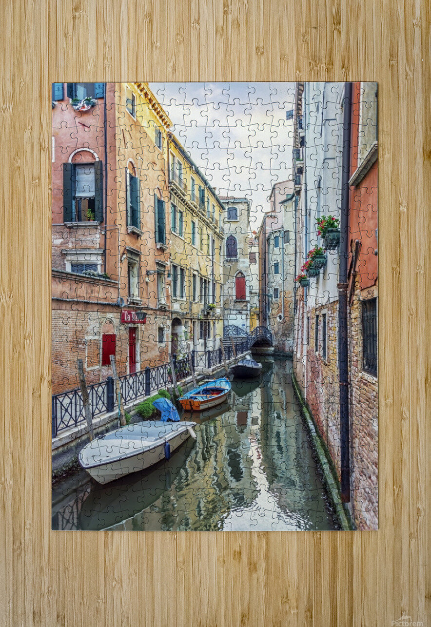 Quiet Venice  HD Metal print with Floating Frame on Back
