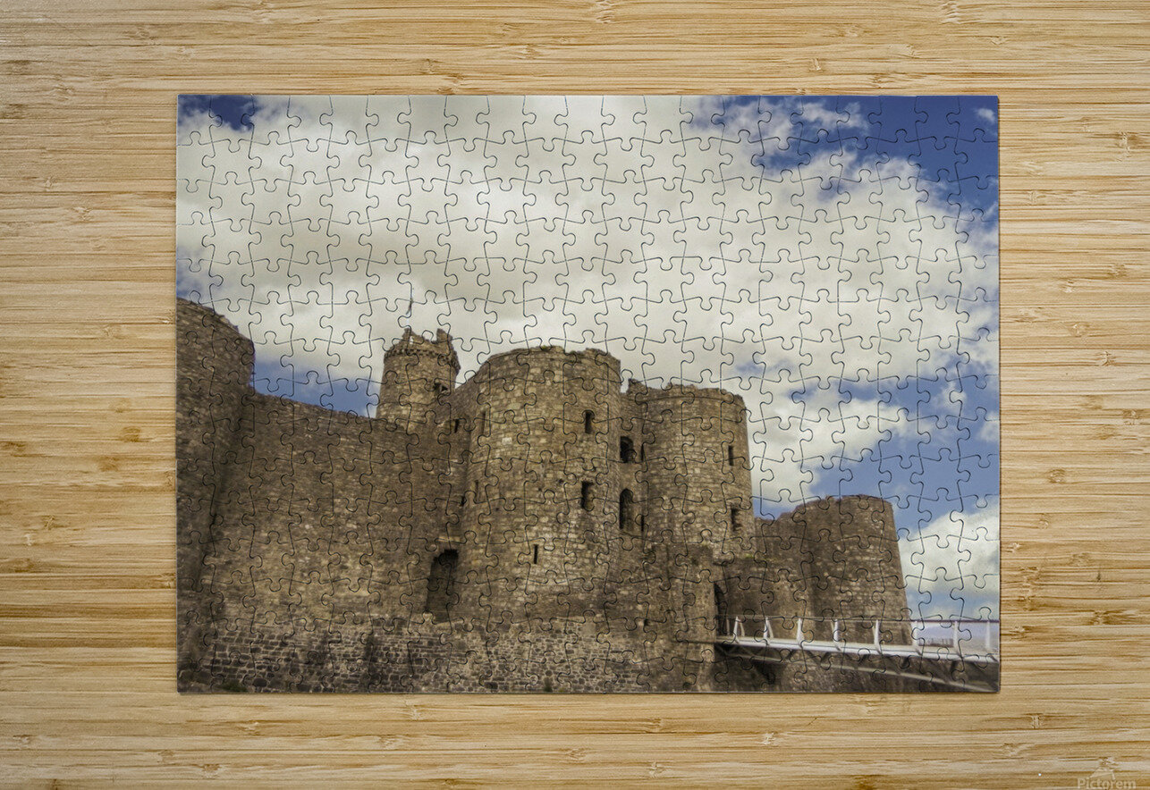Aberystwyth Castle  HD Metal print with Floating Frame on Back