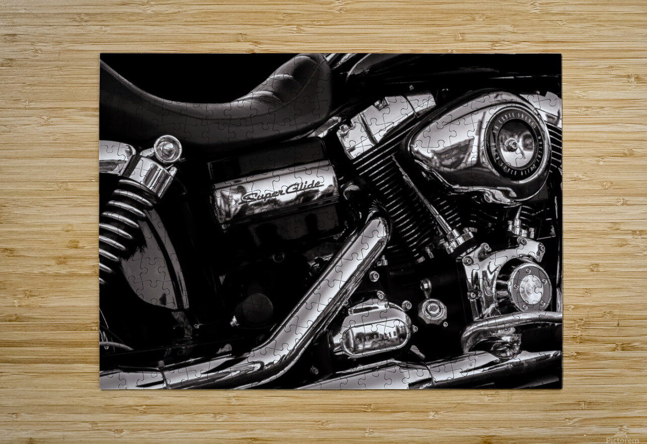 Motorcycle Number 1  HD Metal print with Floating Frame on Back
