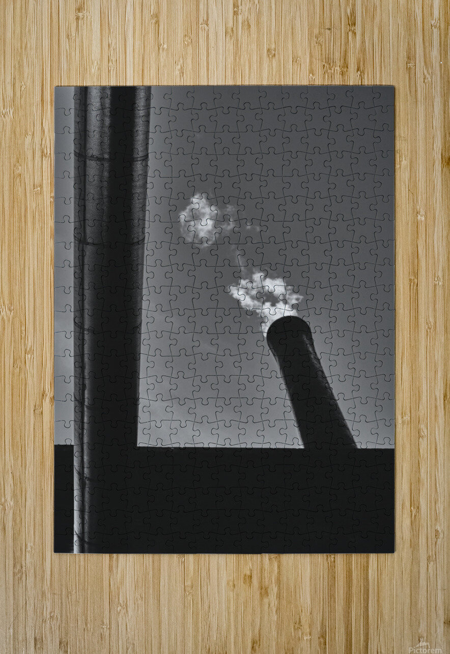 Smokestack Number Six  HD Metal print with Floating Frame on Back